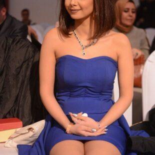 menna arafa blue dress 19