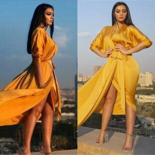 raniayoussef hot gold dress 01
