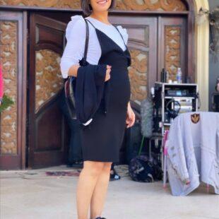 menna fadali wears short high school girls costume sexy