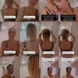 meriem debbagh take a shower wears bikini