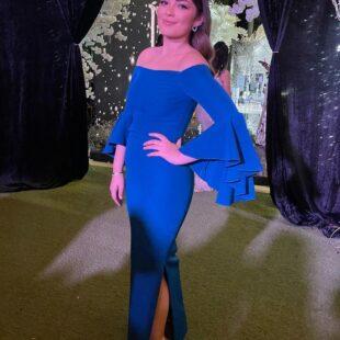 layla ahmed zaher blue dress sexy 2