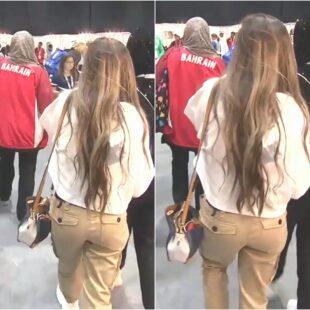 Hala Al Turk Sexy Ass Wears Jeans Pants Photo